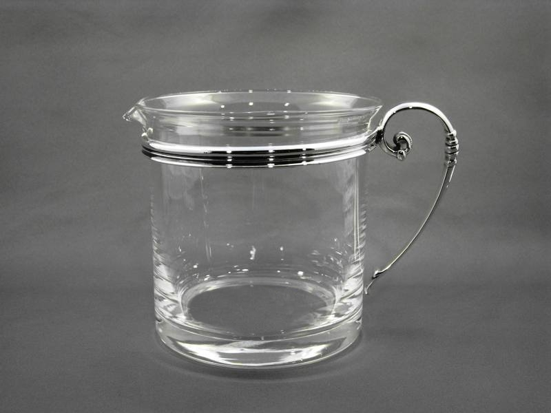 Short Pitcher with Sterling Silver Handle