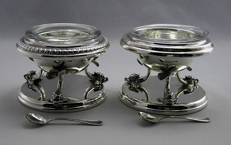Sterling Silver Dolphin Salt and Pepper with Spoons